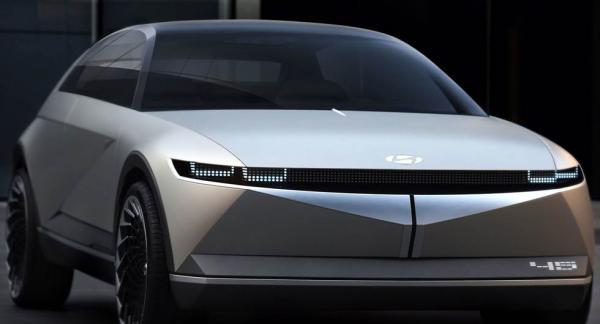 Konceptbilen Hyundai 45 från 2019 ger en försmak av hur nya Ioniq 5 kommer se ut.