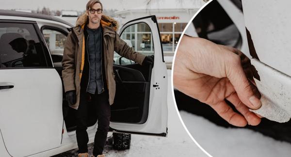 Fredrik Petrussons Citroën C4 Grand Picasso har börjat rosta efter bara fyra år.