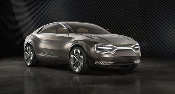 Kia Imagine Concept från 2019. Detta är konceptet som elbilen CV baseras på och den blir offentlig senare under 2021.
