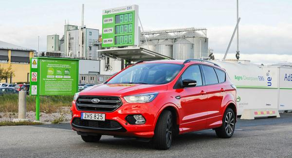 Ford Kuga lanserades med etanoldrift år 2019. Till sommaren kommer fler Fordar att gå på sprit.