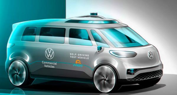 ID Buzz blir Volkswagens första helt autonoma bil. Bild: Volkswagen