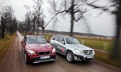 Biltest: BMW X1, Mercedes GLK